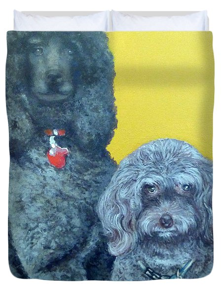 Roger And Bella Duvet Cover by Tom Roderick
