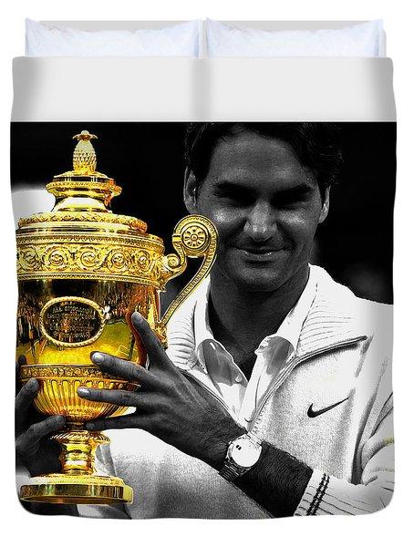 Roger Federer 2a Duvet Cover