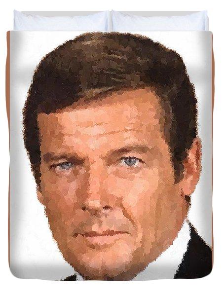 Roger Moore Duvet Cover