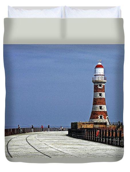 Roker Lighthouse Sunderland Duvet Cover
