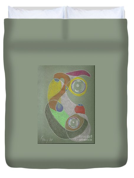 Roley Poley Vertical Duvet Cover by Rod Ismay