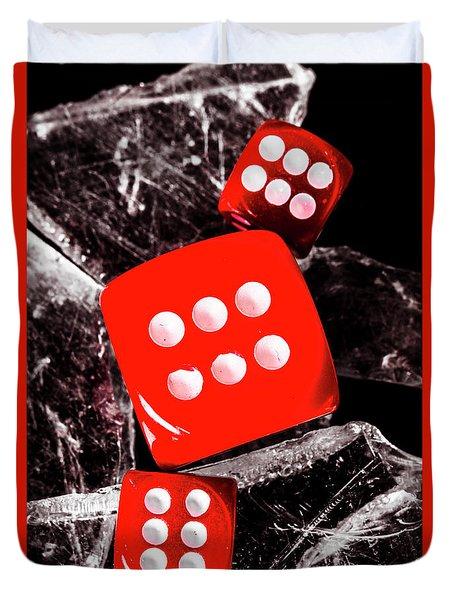 Roll Play Of Still Life Duvet Cover
