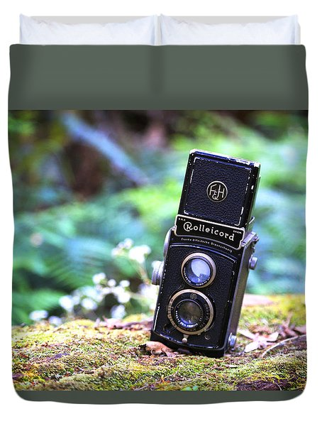 Duvet Cover featuring the photograph Rolleicord 2 by Keith Hawley