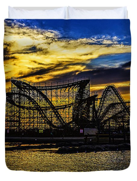 Roller Coaster Sunset Duvet Cover