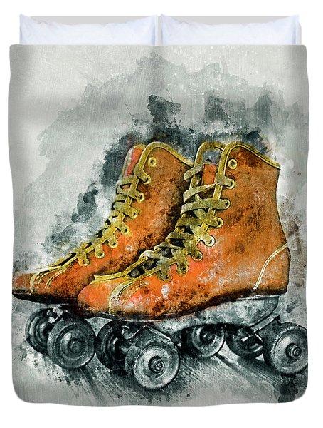 Roller Skates Duvet Cover