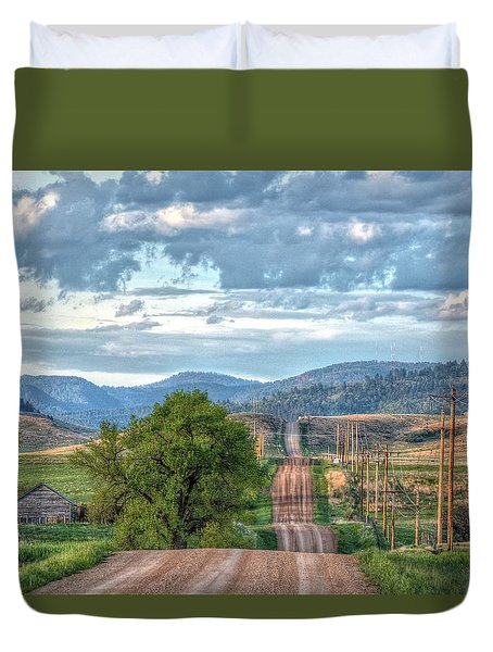 Rollercoaster Country Road Duvet Cover