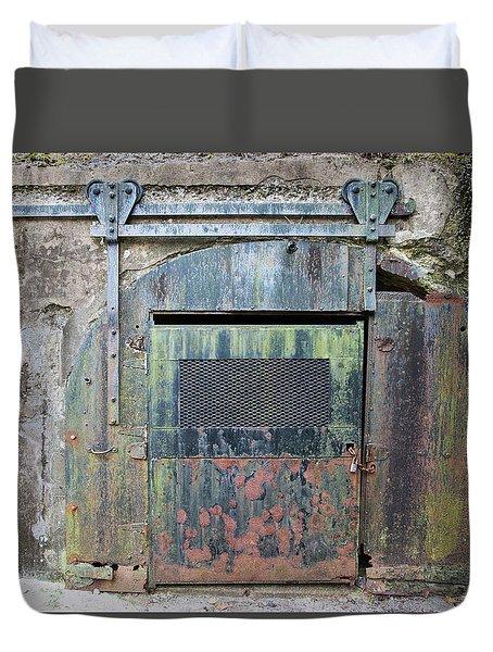 Rolling Door To The Bunker Duvet Cover