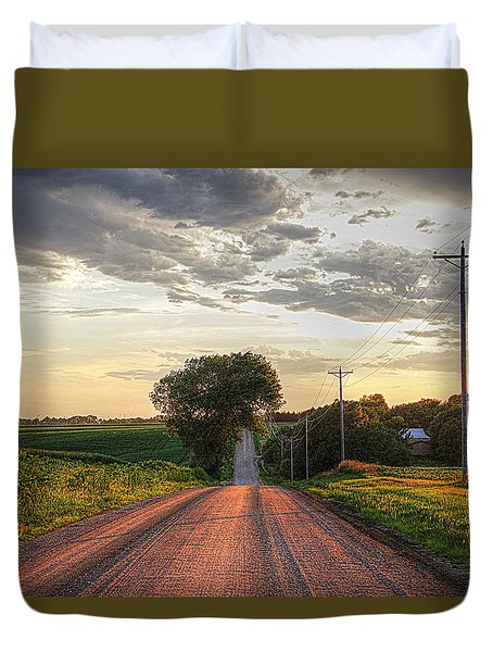 Rolling Down A Country Road Duvet Cover
