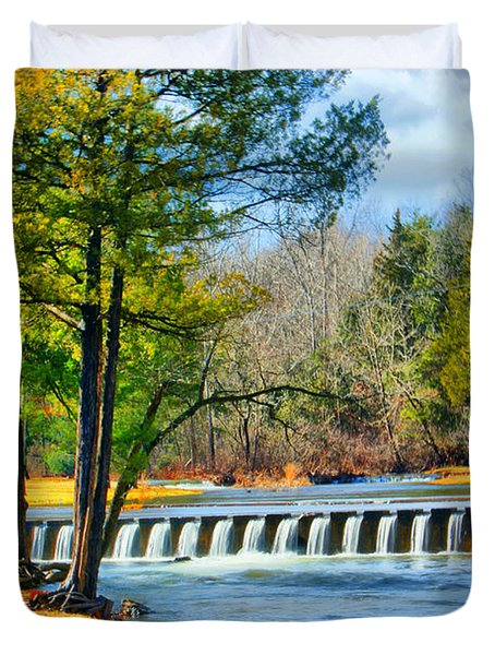 Duvet Cover featuring the photograph Rolling Down The River by Rick Friedle