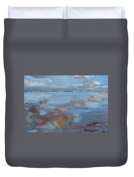 Rolling Fog Duvet Cover by Trina Teele
