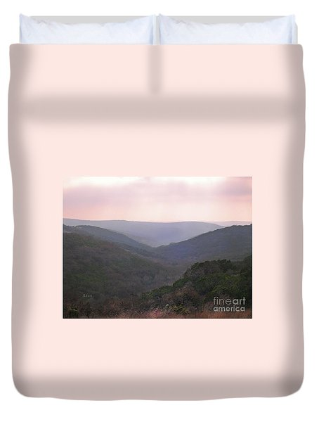 Duvet Cover featuring the photograph Rolling Hill Country by Felipe Adan Lerma