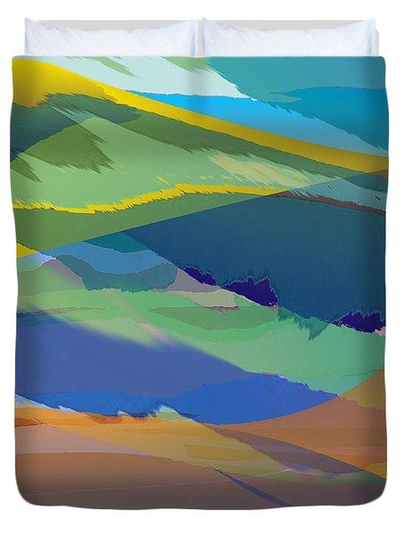 Rolling Hills Landscape Duvet Cover