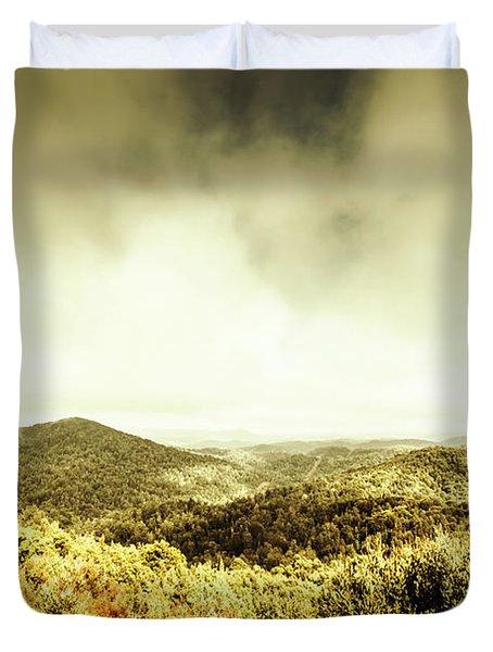 Rolling Hills Of The Tarkine, Tasmania Duvet Cover