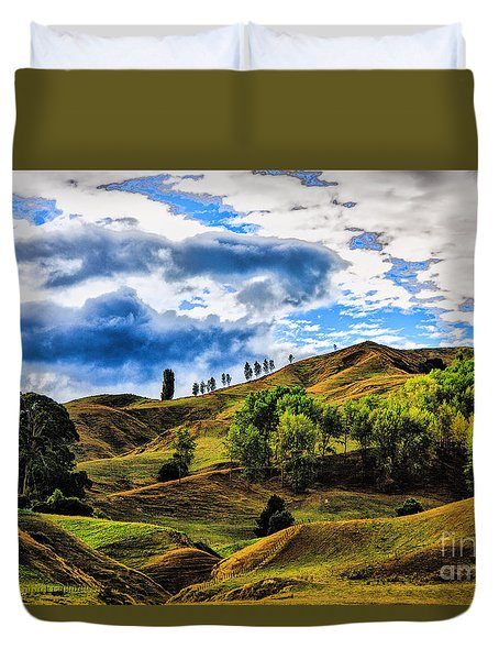 Duvet Cover featuring the photograph Rolling Hills by Rick Bragan