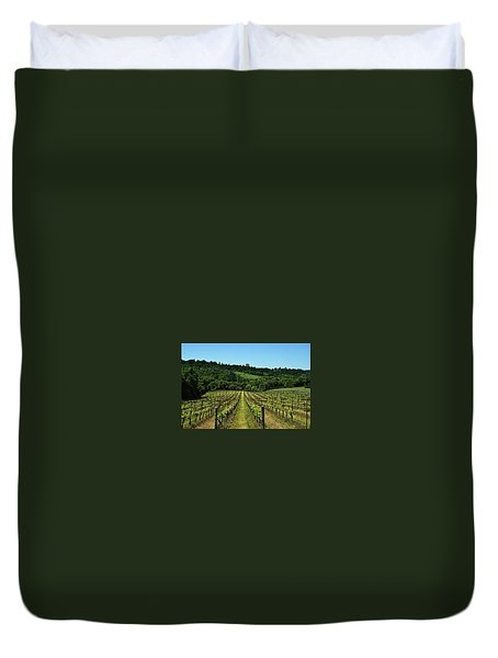 Rolling Hills Winery Grapevines   Duvet Cover