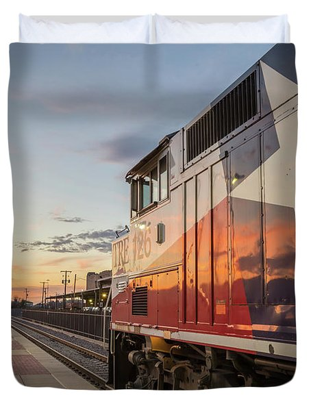 Rolling Into The Sunset Duvet Cover