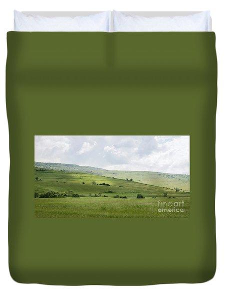 Rolling Landscape, Romania Duvet Cover