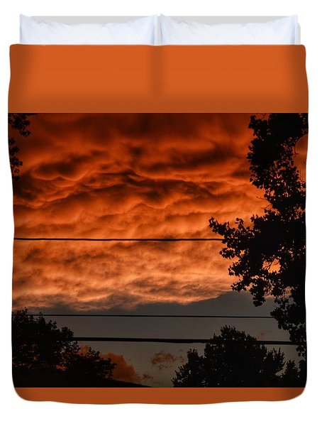 Duvet Cover featuring the photograph Rolling Skies by Nikki McInnes