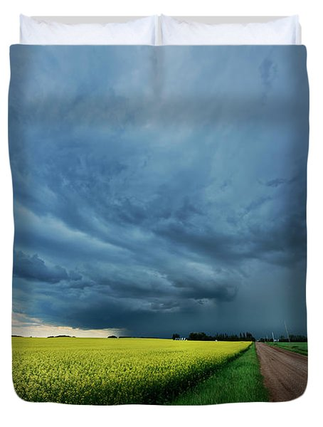 Rolling Storm Duvet Cover