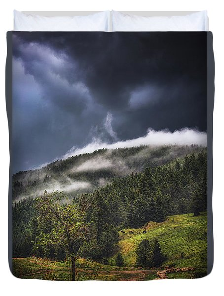 Rolling Through The Trees Duvet Cover