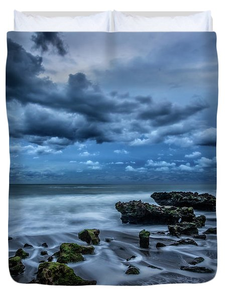 Duvet Cover featuring the photograph Rolling Thunder by Debra and Dave Vanderlaan