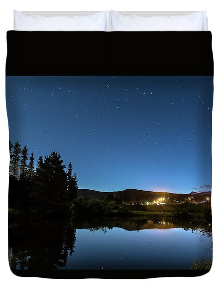 Duvet Cover featuring the photograph Rollinsville Colorado Starlight View by James BO Insogna