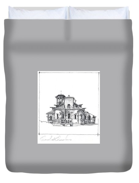 Roman Church At Chamalieres Duvet Cover