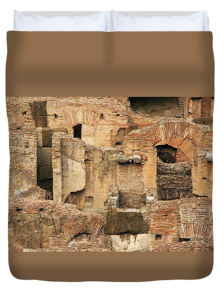 Duvet Cover featuring the photograph Roman Colosseum by Silvia Bruno