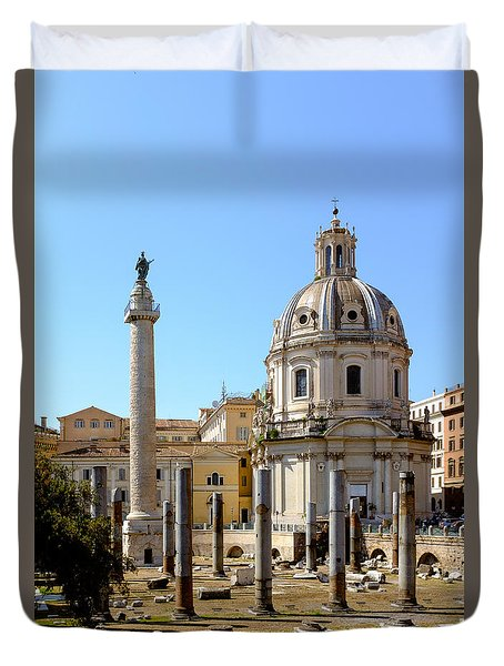 Roman Forum Duvet Cover by Edward Fielding