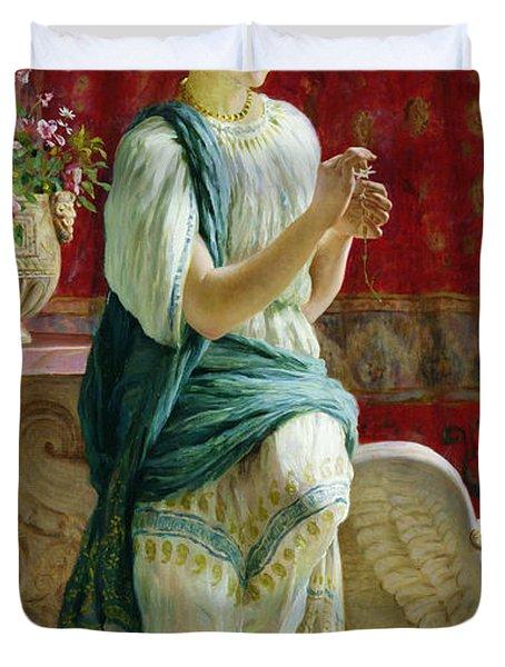 Roman Girl Duvet Cover by Guglielmo Zocchi