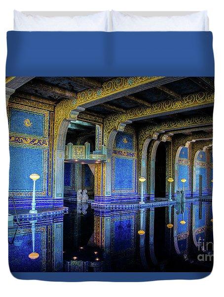 Roman Pool Duvet Cover
