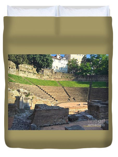 Roman Theater Duvet Cover