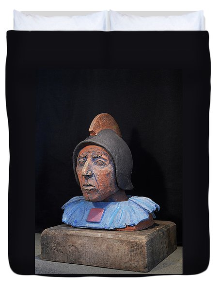 Roman Warrior Roemer - Roemer Nettersheim Eifel - Military Of Ancient Rome - Bust - Romeinen Duvet Cover