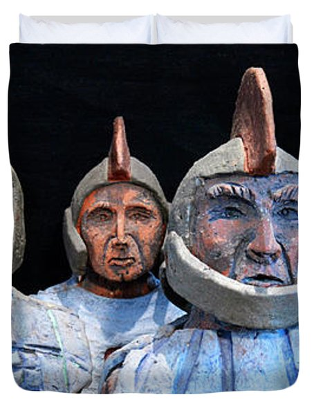 Roman Warriors - Bust Sculpture - Roemer - Romeinen - Antichi Romani - Romains - Romarere Duvet Cover