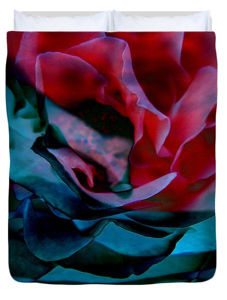 Romance - Abstract Art Duvet Cover by Jaison Cianelli