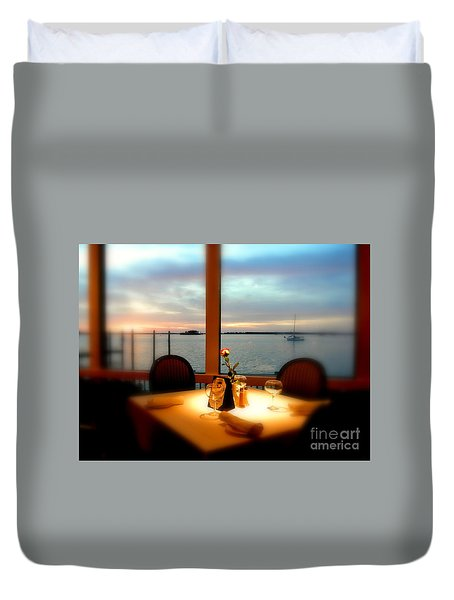 Duvet Cover featuring the photograph Romance by Elfriede Fulda