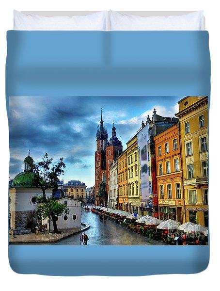 Romance In Krakow Duvet Cover by Kasia Bitner