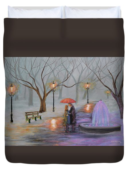 Romance In The Park Duvet Cover