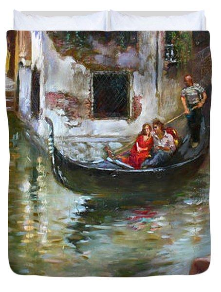 Romance In Venice 2 Duvet Cover