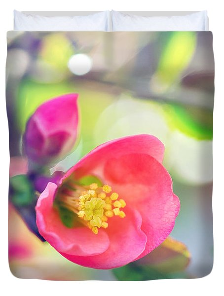 Romancing Spring I Duvet Cover by Kharisma Sommers