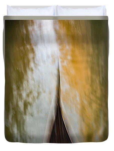 Romancing The Gondola II Duvet Cover