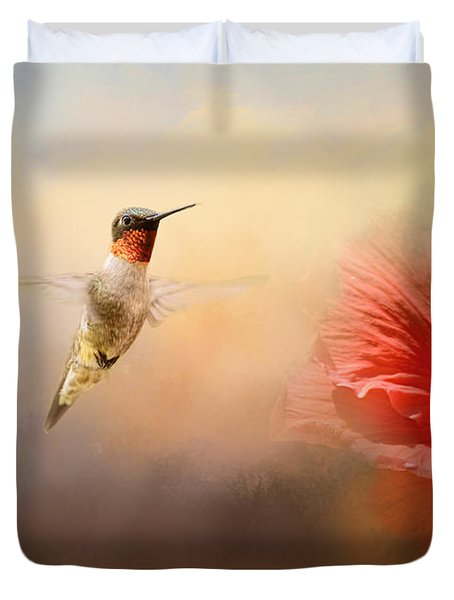 Romancing The Hibiscus Duvet Cover