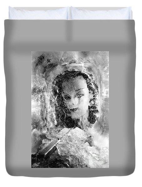 Romancing The Ice Princess Duvet Cover