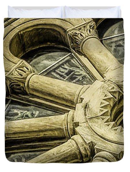 Romanesque Wheel Duvet Cover