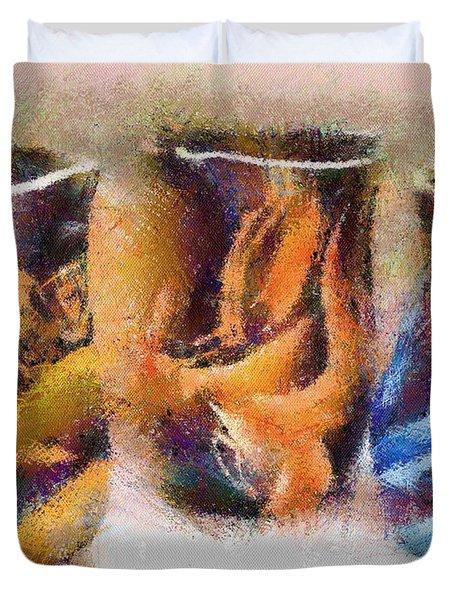 Romanian Vases Duvet Cover by Jeff Kolker