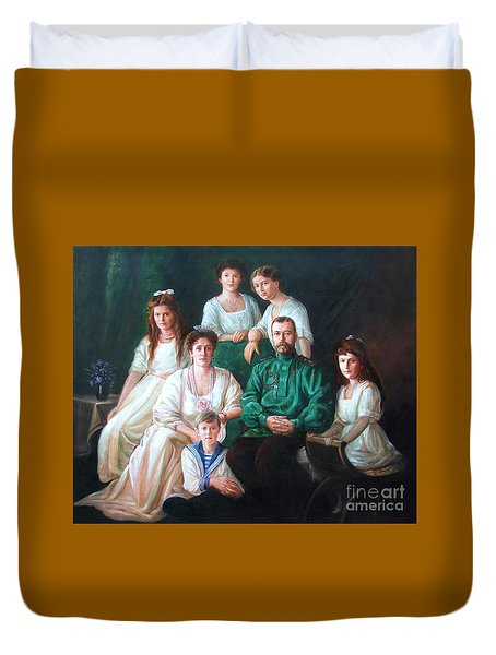 Romanov Family Portrait Duvet Cover by George Alexander