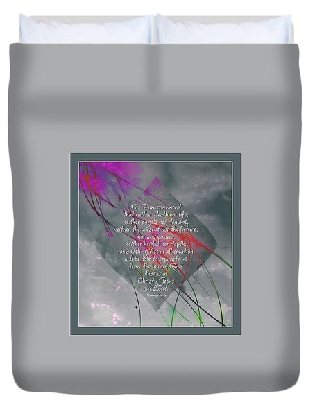 Romans 8 I Am Convinced Duvet Cover