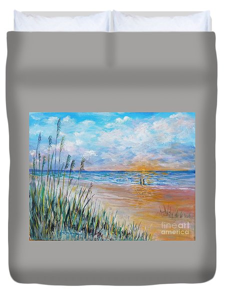 Romantic Beach Duvet Cover