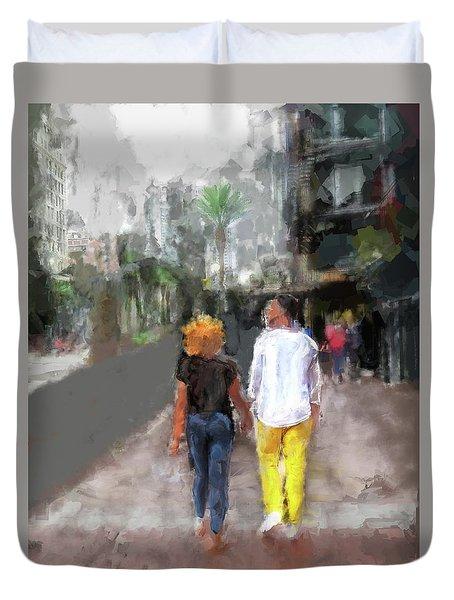 Romantic Couple Duvet Cover