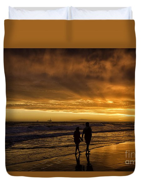 Romantic Couple Duvet Cover